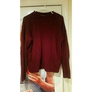 Vintage Maroon Sweater